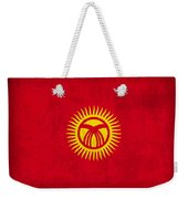 Kyrgyzstan Flag Vintage Distressed Finish Weekender Tote Bag
