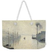 L Ile Lacroix. Rouen. The Effect Of Fog Weekender Tote Bag