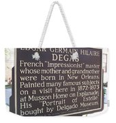 La-012 Edgar Germain Hilaire Degas Weekender Tote Bag