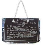 La-013 Le Fort Saint-charles Weekender Tote Bag
