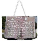 La-021 Flagville Weekender Tote Bag