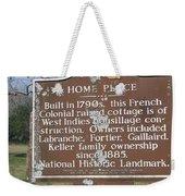 La-022 Home Place Weekender Tote Bag