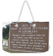 La-029 Site Of First Acadian Settlers In Louisiana Weekender Tote Bag
