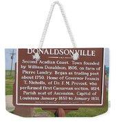 La-033 Donaldsonville Weekender Tote Bag