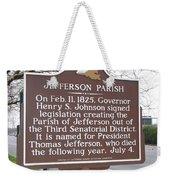 La-040 Jefferson Parish Weekender Tote Bag