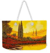 La Barca Al Tramonto Weekender Tote Bag by Guido Borelli