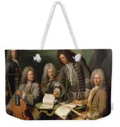 La Barre And Other Musicians, C.1710 Oil On Canvas Weekender Tote Bag