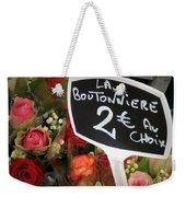 La Boutonniere Weekender Tote Bag