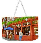 La Cage Aux Sports In Old Montreal-quebec Weekender Tote Bag