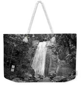 La Coca Falls El Yunque National Rainforest Puerto Rico Print Black And White Weekender Tote Bag