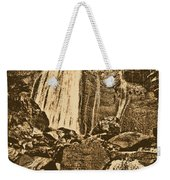La Coca Falls El Yunque National Rainforest Puerto Rico Prints Rustic Weekender Tote Bag by Shawn O'Brien