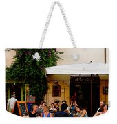 La Dolce Vita At A Cafe In Italy Weekender Tote Bag