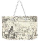 La Gare Saint Lazare Weekender Tote Bag by Claude Monet