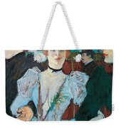 La Goulue Arriving At Moulin Rouge With Two Women Weekender Tote Bag