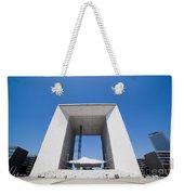 La Grande Arch In La Defense Business District Paris France Weekender Tote Bag