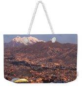 La Paz Skyline At Sundown Weekender Tote Bag