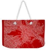 La Paz  Street Map - La Paz Bolivia Road Map Art On Color Weekender Tote Bag