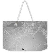 La Paz  Street Map - La Paz Bolivia Road Map Art On Colored Back Weekender Tote Bag