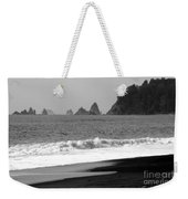 La Push Beach Black And White Weekender Tote Bag