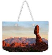 La Sal Mountains From Balanced Rock Weekender Tote Bag