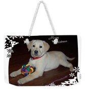 Lab Pup Merry Christmas Weekender Tote Bag
