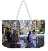 Laboring Under The Bridge 2 Weekender Tote Bag