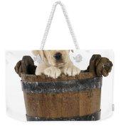 Labrador Puppy In Bucket Weekender Tote Bag