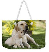 Labrador With Puppy Weekender Tote Bag