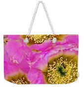 Lace Cactus Flowers Weekender Tote Bag