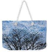 Lace On Blue Weekender Tote Bag