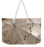 Lace Parasol In Sepia Weekender Tote Bag
