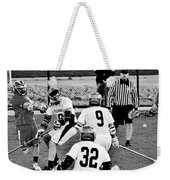 Lacrosse - Stick To The Face Weekender Tote Bag
