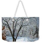 Lacy Snowfall Weekender Tote Bag