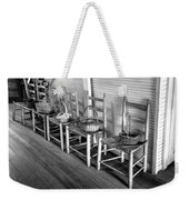 Ladder Back Chairs And Baskets Weekender Tote Bag by Lynn Palmer