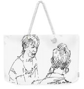 Ladies Chatting Weekender Tote Bag