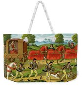 Ladies Hunting, From A Miniature Weekender Tote Bag