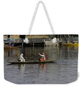 Ladies Plying A Small Boat In The Dal Lake In Srinagar - In Fron Weekender Tote Bag