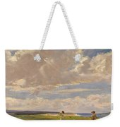 Lady Astor Playing Golf At North Berwick Weekender Tote Bag