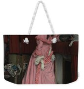 Lady At The Fireplace   Weekender Tote Bag
