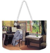 Lady At The Piano Weekender Tote Bag