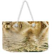 Lady Bathing Weekender Tote Bag