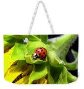 Ladybug And Sunflower Weekender Tote Bag