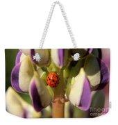 Lady Bug On Lupine Weekender Tote Bag