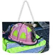 Lady Firefighter Weekender Tote Bag