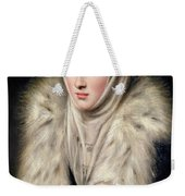 Lady In A Fur Wrap Weekender Tote Bag