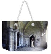 Lady In Abbey Room With Doves Weekender Tote Bag