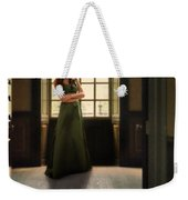Lady In Green Gown By Window Weekender Tote Bag