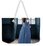 Lady In Purple Gown By Window Weekender Tote Bag