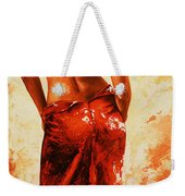 Lady In Red 27re Large  Weekender Tote Bag