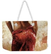 Lady In Red 27 Soft Color Weekender Tote Bag by Emerico Imre Toth